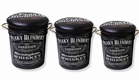 Peaky Blinders storage stool / tub / barrel seating