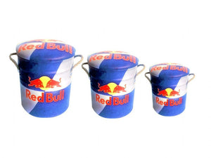 Red Bull storage stool / tub / barrel