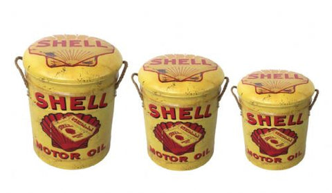 Shell storage stool / tub / barrel