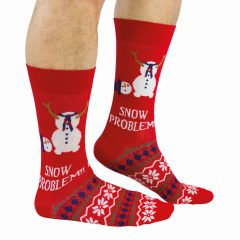 Cockney Spaniel Snow Problem funny Snowman Christmas Socks