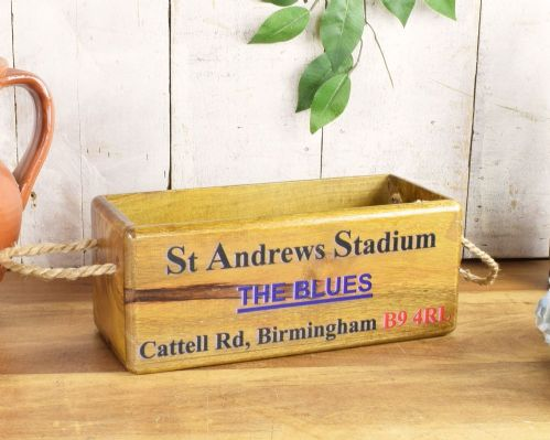 Birmingham City St Andrews wooden storage box