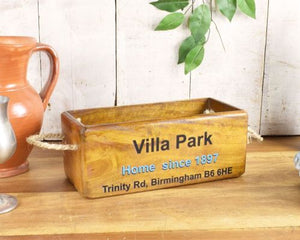Aston Villa Villa Park Stadium wooden box