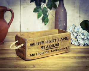 White Hart Lane Tottenham wooden box