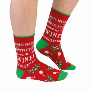 Cockney Spaniel Who Needs Mistletoe Funny Christmas Socks