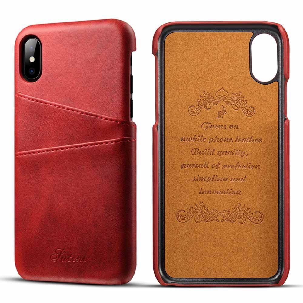 Back Cover Wallet For iPhone X