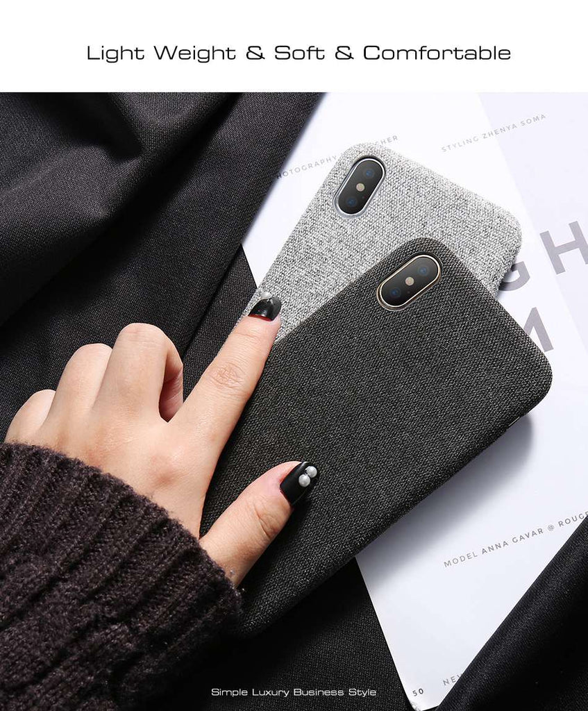 fabric back cover iphone x