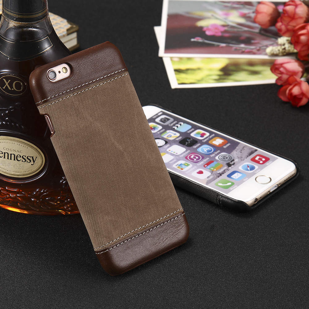 iPhone X Leather & Fabric Cover