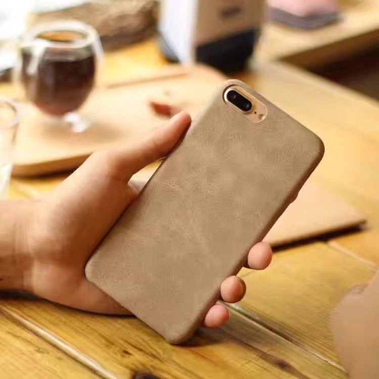 leather cover for iPhone 6S - Brown