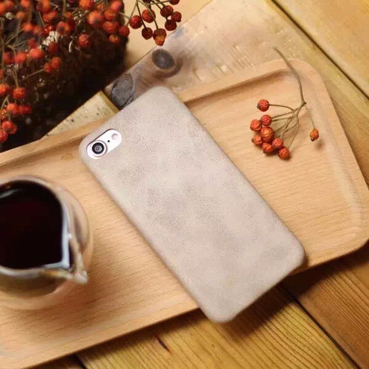 soft leather case for iPhone 6S- lite Brown