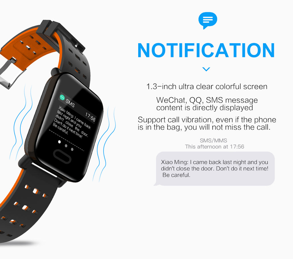 Kshop A6 Smartwatch notification