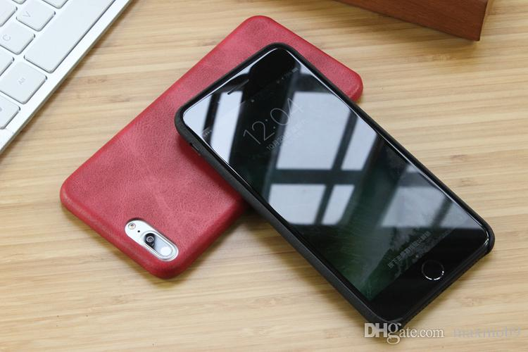 leather cover for iPhone 6S - Red