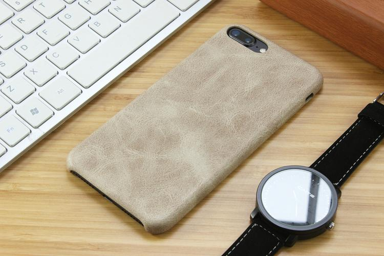 soft leather cover for iPhone 6S - lite brown