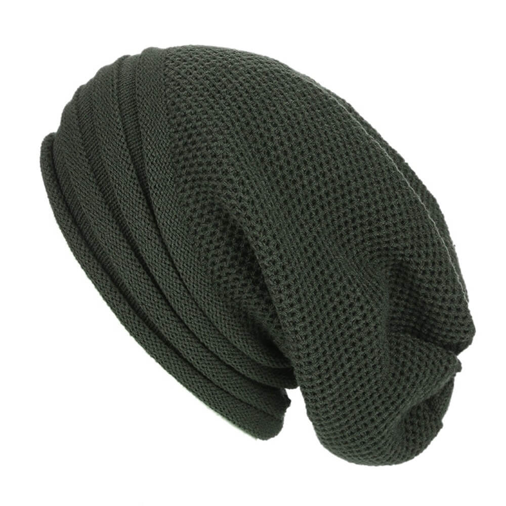 Marshland Green Baggy Slouchy - Beanie Cap - Mobilegadgets360
