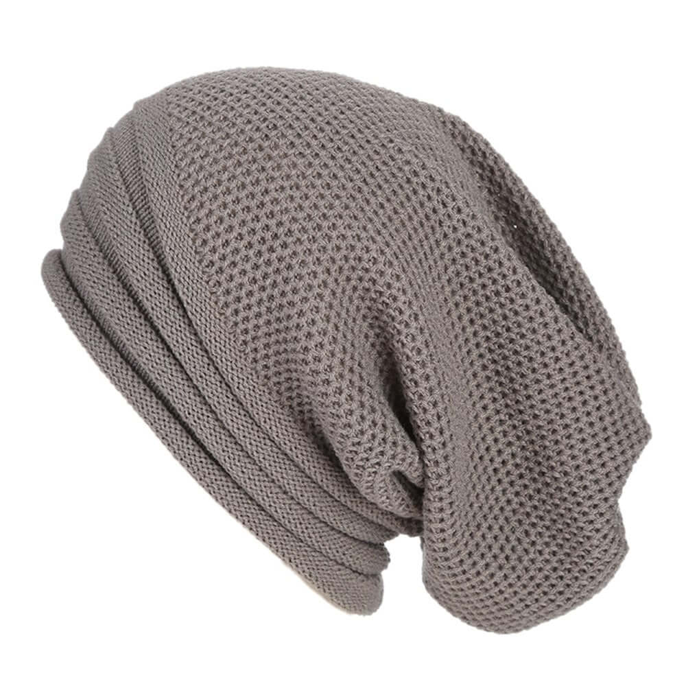 Grey Baggy Slouchy - Beanie Cap - Mobilegadgets360