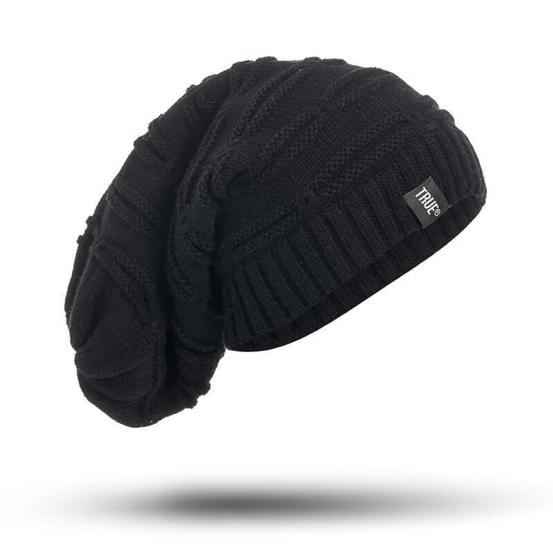 Black Knitted Winter - Beanie Cap - Mobilegadgets360