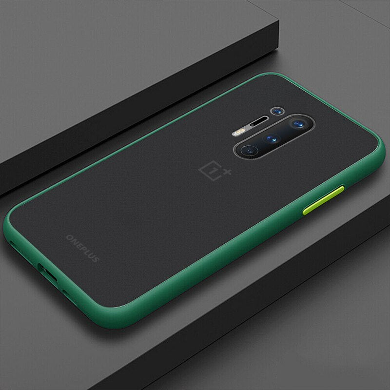 Smoke Matte Case For OnePlus 8 Pro - Green