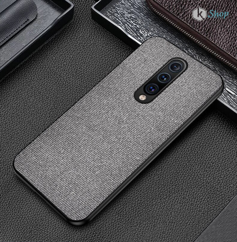 Grey Fabric Back Cover - OnePlus 7 Pro - Mobilegadgets360