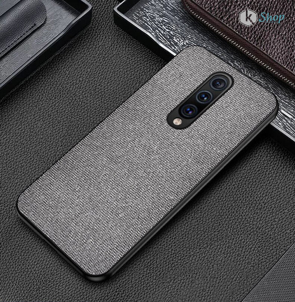 Grey Fabric Back Cover - OnePlus 7 - Mobilegadgets360