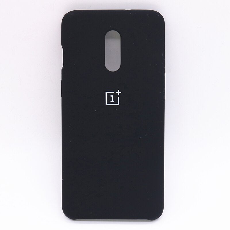 Black Silicone Case For OnePlus - 7