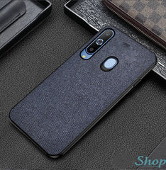 Blue Fabric Back Cover - Samsung M40 - Mobilegadgets360