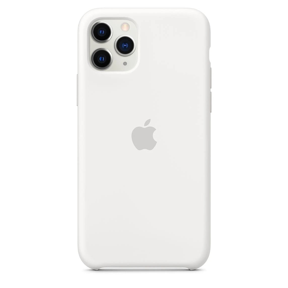 Silicon Case For iPhone 11 Pro Max - White - Mobilegadgets360