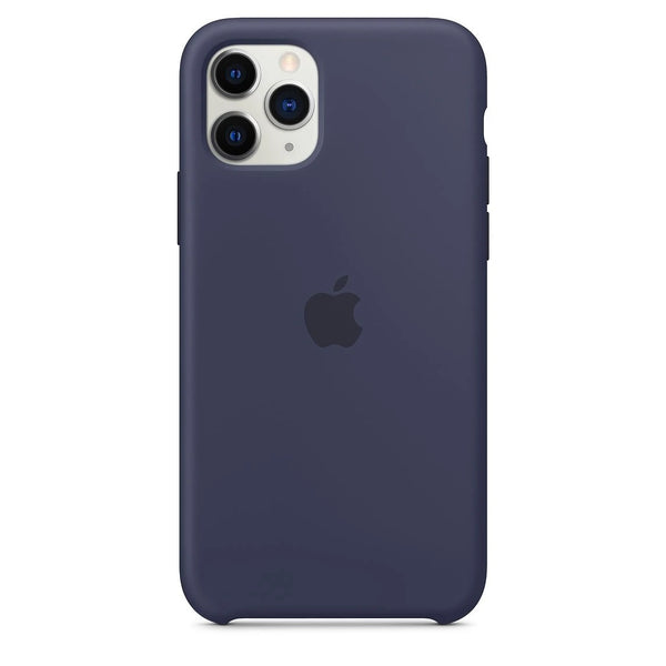 Silicon Case For iPhone 11 Pro Max - Midnight Blue - Mobilegadgets360