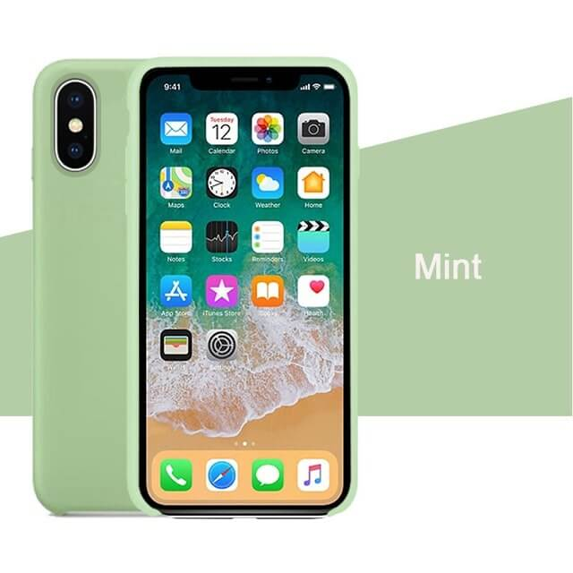 Mint Liquid Silicon Case - iPhone XR - Mobilegadgets360