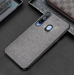 Grey Fabric Back Cover - Samsung M40 - Mobilegadgets360