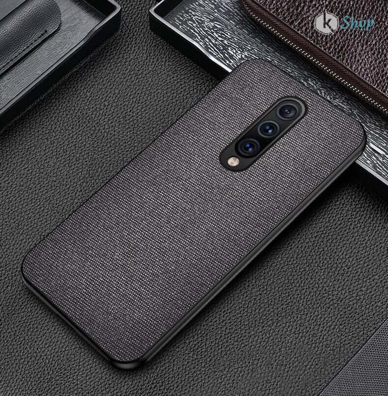 Black Fabric Back Cover - OnePlus 7 - Mobilegadgets360