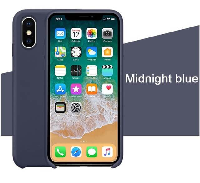 Midnight Blue Liquid Silicon Case - iPhone XS - Mobilegadgets360