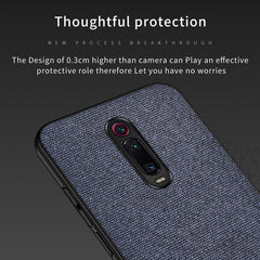 Blue Fabric Cover - Redmi K20 - Mobilegadgets360