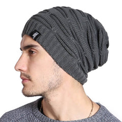 Tune Grey Knitted Winter - Beanie Cap - Mobilegadgets360