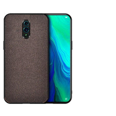 Rs.549 Fabric Back Cover OPPO Reno - Brown - Mobilegadgets360