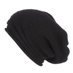 Black Baggy Slouchy - Beanie Cap - Mobilegadgets360