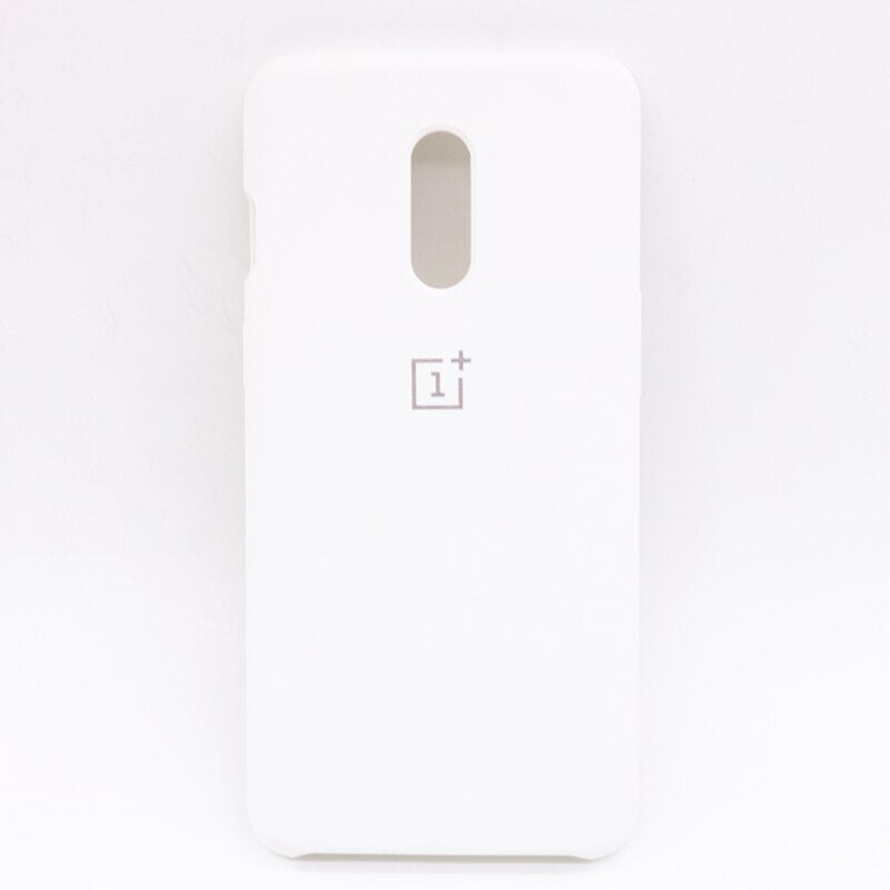 White Silicone Case For OnePlus - 7