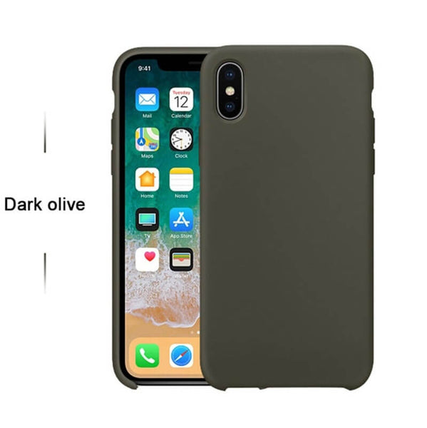 Dark Olive Liquid Silicon Case - iPhone X - Mobilegadgets360