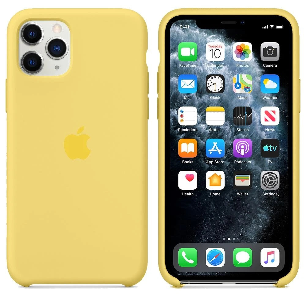 Silicone Case For iPhone 11 Pro Max - Yellow