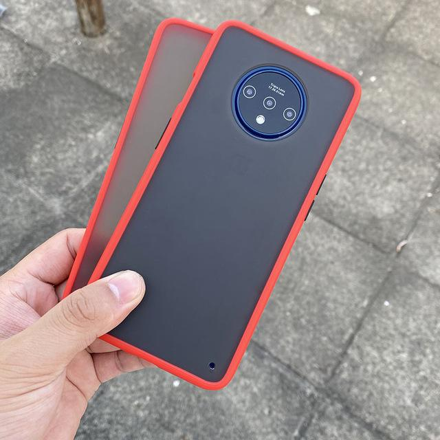 Smoke Matte Case For OnePlus 7T -Red