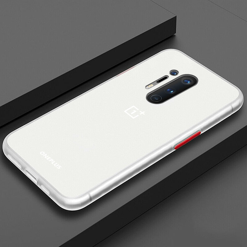 Smoke Matte Case For OnePlus 8 Pro - White