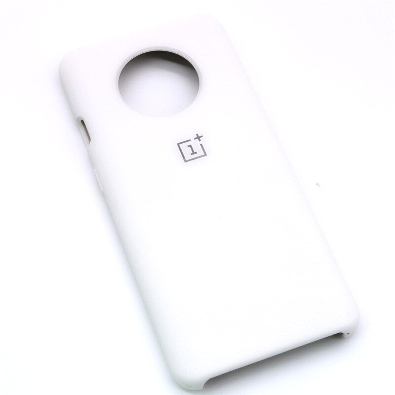 White Silicone Case For OnePlus - 7T