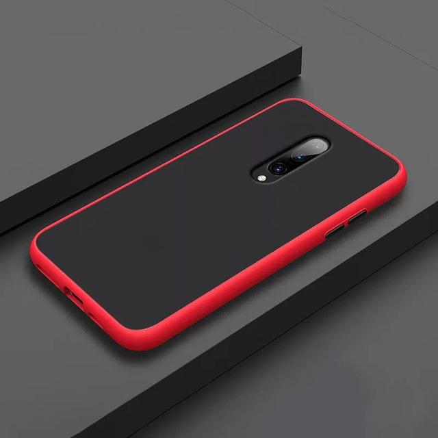 Smoke Matte Case For OnePlus 7 Pro - Red