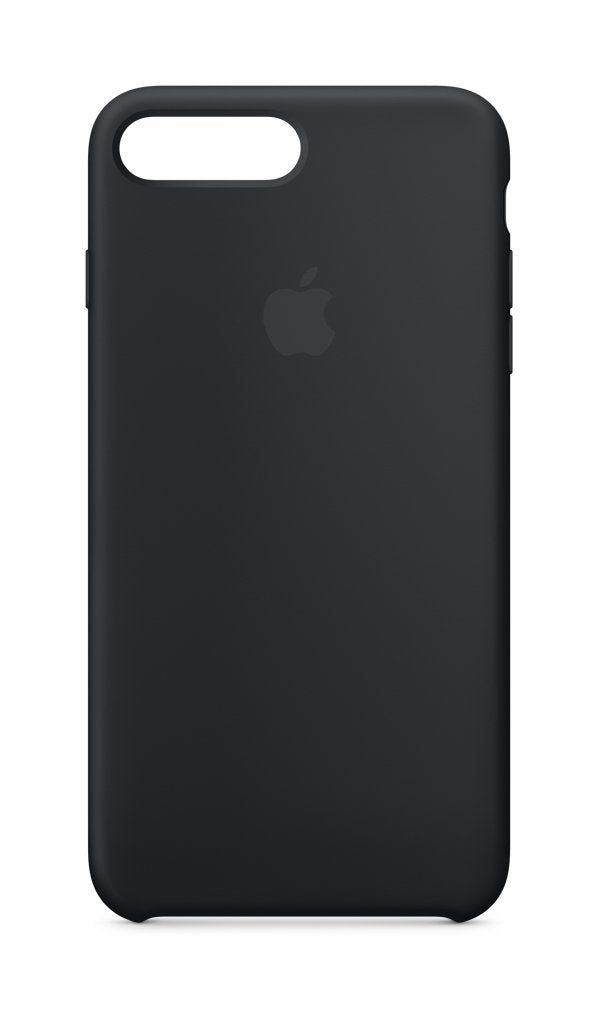 Black Liquid Silicon Case - iPhone 7 Plus & 8 Plus - Mobilegadgets360