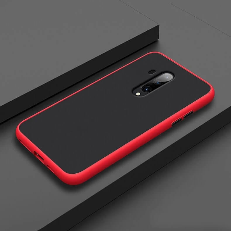 Smoke Matte Case For OnePlus 7T Pro - Red