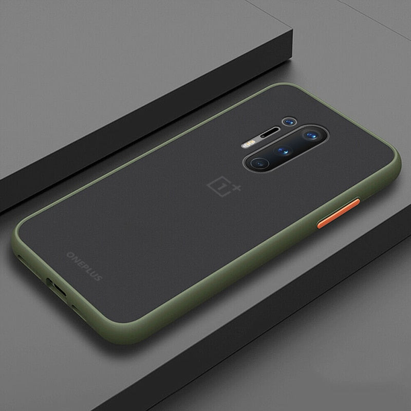 Smoke Matte Case For OnePlus 8 Pro - Light Green