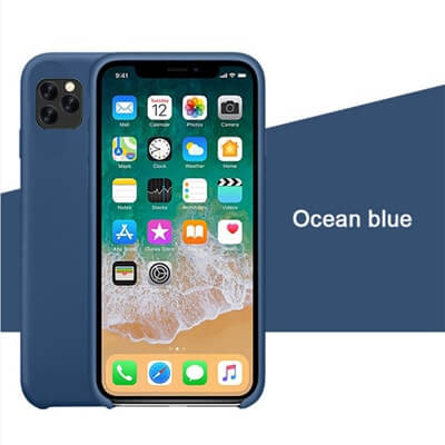 Blue Silicon Case - iPhone 11 Pro - Mobilegadgets360