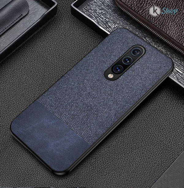 Canvas Fabric Cover - OnePlus 7 Pro ( Blue ) - Mobilegadgets360