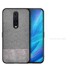 Canvas Grey Fabric Back Cover - OnePlus 7 - Mobilegadgets360