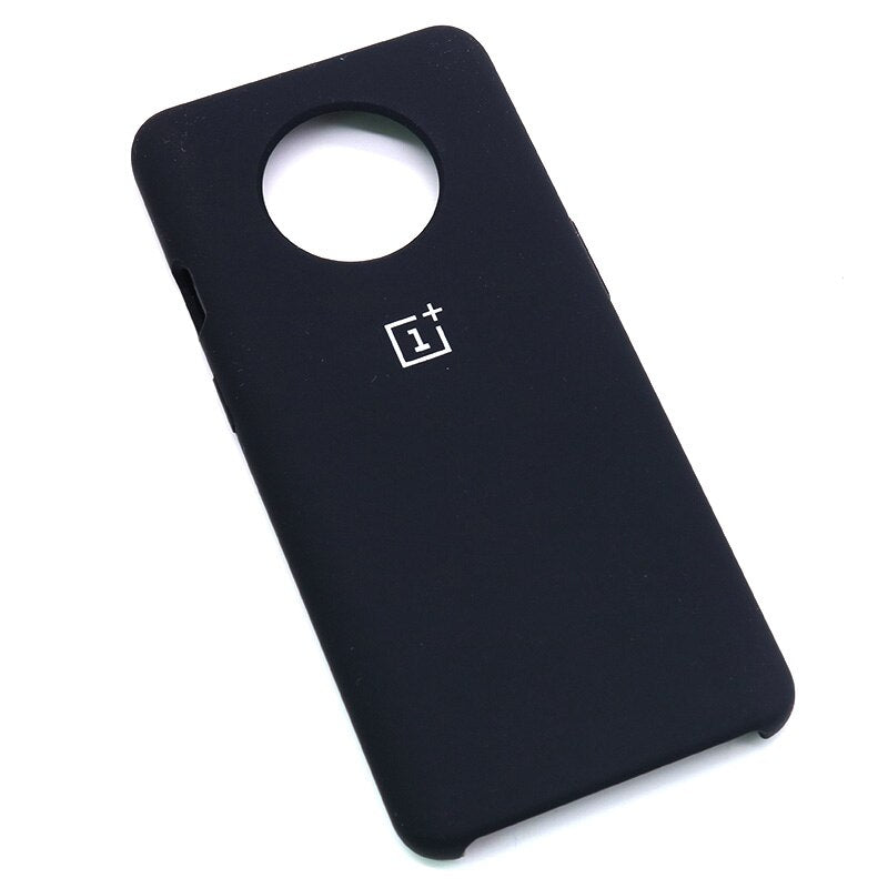 Black Silicone Case For OnePlus - 7T
