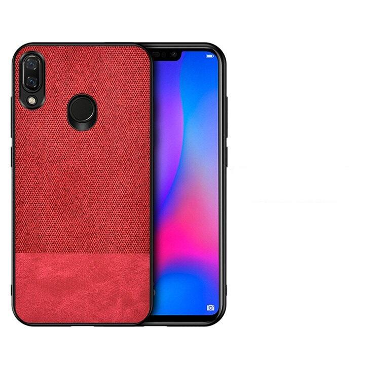 Red Canvas Fabric Cover - Realme 3 Pro - Mobilegadgets360