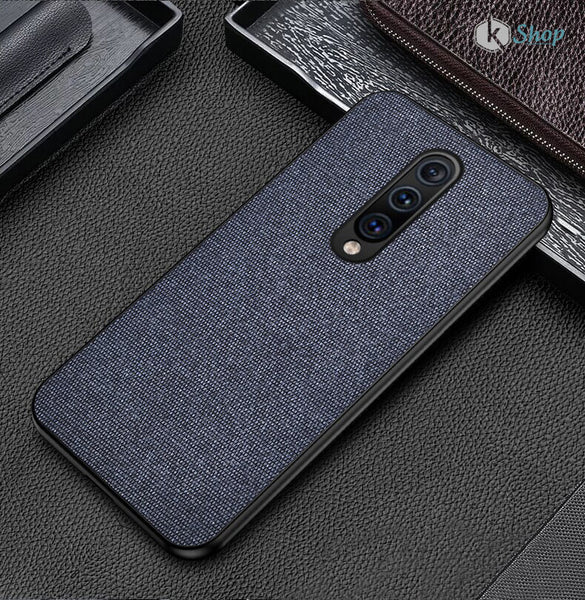 Blue Fabric Back Cover - OnePlus 7 Pro - Mobilegadgets360